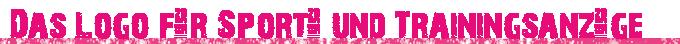 Das Logo für Sport- und Trainingsanzüge