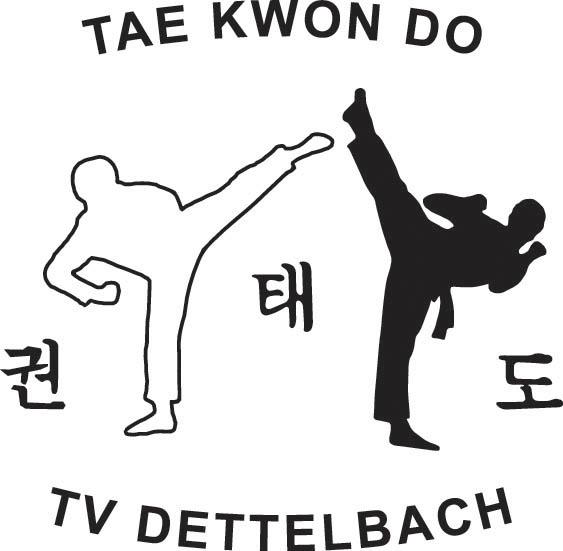 Logo der Abteilung Taekwondo speziell für Sport- und Trainingsanzüge.